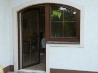 Montáž oken rodinný domek Bystřice