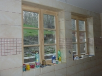 Obkládání kuchyně ve školícím středisku na Bahenci